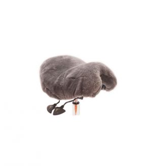 Large size sheepskin cover accessories in charcoal