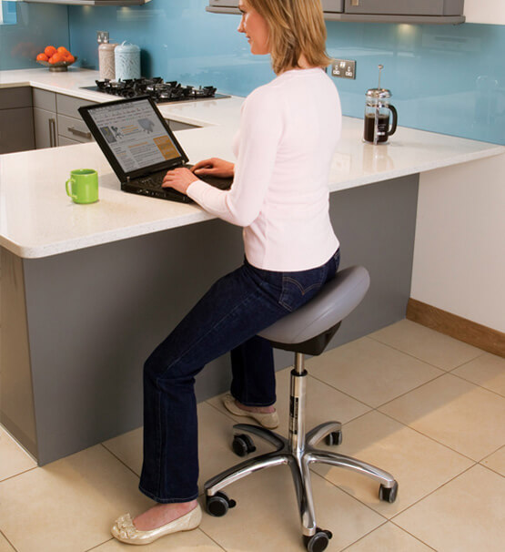 Bambach low saddle stool for home office