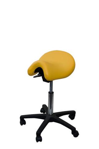 Bambach Saddle Seat Yellow Medium with No Back Ergonomic Chair