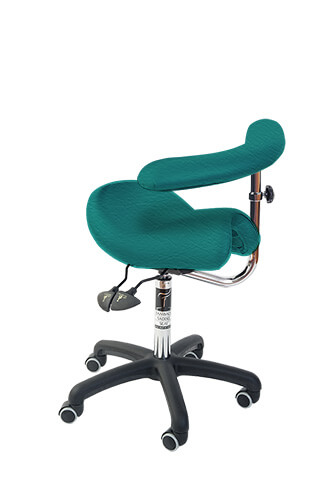 Bambach Saddle Seat Emerald No Back Ergonomic Chair