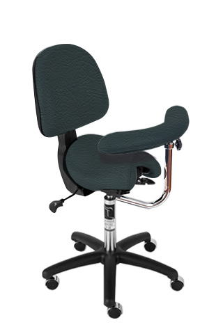 Bambach Saddle Seat Forest with Back Ergonomic Chair