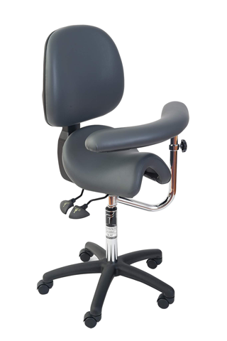 Bambach Saddle Seat Swing Arm with Back Ergonomic Chair