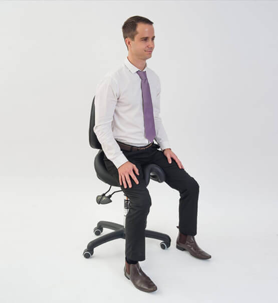 Bambach saddle chair for back support