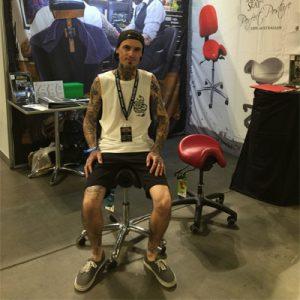 Bambach saddle chair for creatives
