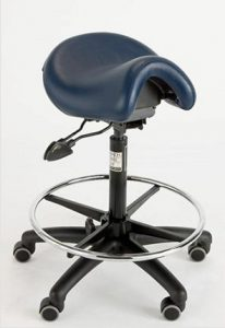Saddle stool for creative professionals