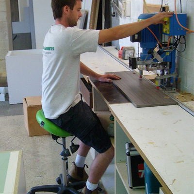 Bambach original saddle stool for WHS workers