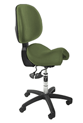 Bambach ergonomic office chair medium turtle green with back