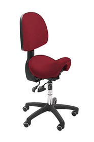 Bambach ergonomic office chair narrow red daliah with back