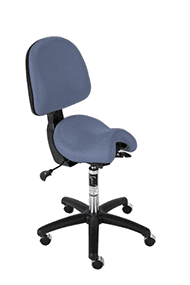 Bambach ergonomic office chair small stonewash with back